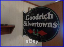 Vintage Porcelain Flange Signs Goodrich Tires Flange Sign Bf Goodrich Firestone