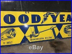 Vintage Porcelain Good Year Enamel Gas Pump Tire Sign