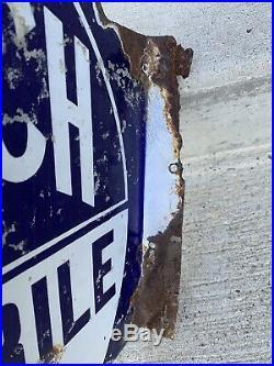 Vintage Porcelain Goodrich Automobile Tires Flange Sign Advertising Sign