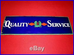 Vintage Porcelain Goodrich Quality Service Sign, Single Sided, Ultra Rare! Bf