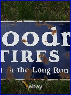 Vintage Porcelain Goodrich Tires Silvertown Cords Sign, Goodrich Tire Sign