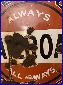 Vintage Porcelian Goodrich Tires Railroad Sign 100% Original