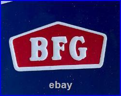 Vintage Rare Domed Bf Goodrich 20 Tires Batteries Porcelain Sign Car Gas Oil