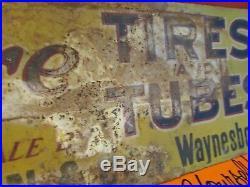 Vintage Rare Empire Tire Sign CW Sexton Waynesboro PA 1900, s