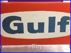 Vintage Rare GULF OIL GAS TIRE RACK SIGN Original NOS never used