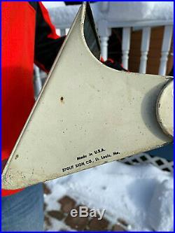 Vintage Rare Lg Metal Rhino Flex Armstrong Tire Rack Display Sign Gasoline Oil