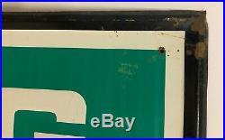 Vintage Rare Original 1950's GATES TIRES Sign Embossed Metal Tin Gas Station