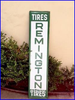 Vintage Remington Tire Sign Authentic Excellent
