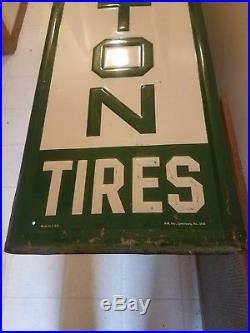 Vintage Remington Tire Sign. Original condition, not a cheap reproduction