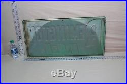 Vintage Remington Tires Embossed Metal Sign Gas Oil Coke Texas Ford