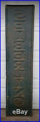 Vintage Seiberling Tires 6' Self Framed Embossed Gas Oil Advertising Sign