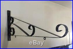 Vintage Sign Bracket 36 Metal Porcelain Gas Oil Garage Tire Business Decor 2