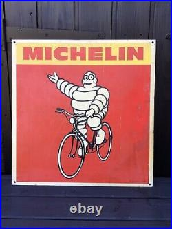 Vintage Single Sided Genuine Michelin Cycle Tyre Advertising Sign