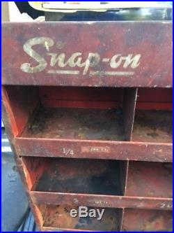 Vintage Snap-on sign Tire Wheel Weights Rack Display Gas Station Oil Pump Tool