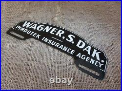 Vintage South Dakota Insurance License Plate Tag Sign Reflector Antique NOS 6796