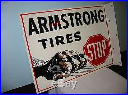Vintage Style Armstrong Tires Lights The Way Gas Station Display Sign