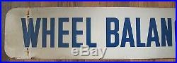 Vintage Tire Repaired/ Wheel Balancing Painted Metal/Tin Sign-Gas Station-Garage
