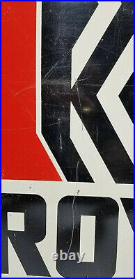 Vintage Tire Sign US Royal double sided 1964 Service Station
