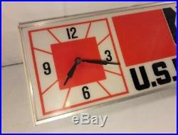 Vintage U. S. Royal Tires Lighted Clock Sign