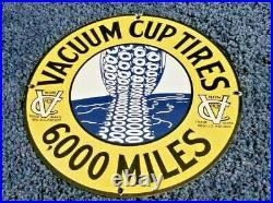 Vintage Vacuum Tires Porcelain Gas Motor Oil Automobile Michelin Service Sign