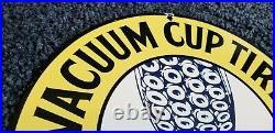 Vintage Vacuum Tires Porcelain Gas Oil Service Auto Ford Michelin Mechanic Sign