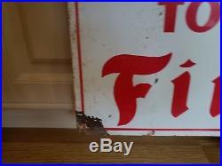 Vintage advertising Firestone Tire Sign gas