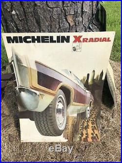 Vintage c. 1970 Michelin Man Tires Gas Station Oil 32 Metal Signs 3 Signs