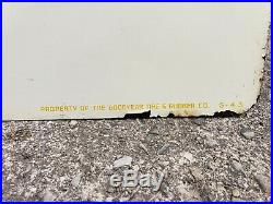 Vintage double sided Goodyear tire sign. 1943