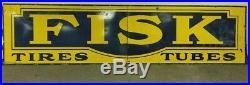 Vintage fisk tire gas oil porcelain sign 14ft