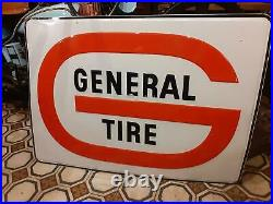 Vintage general tire Advertisement Litho Tin Sign original
