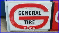 Vintage general tire Sign embossed plastic mobilia man cave collectible