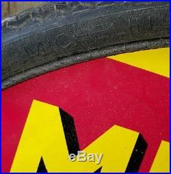 Vintage michelin zigzag tyre sign not enamel sign