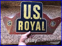 Vintage old Rare, U. S. Royal Tires Bicycle or Auto Service metal Sign OFFERS