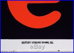 Vintage porcelain sign FIRESTONE tires gas oil Century Vitreous Enamel 6' tall