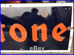 Vintage porcelain sign FIRESTONE tires gas oil enamel