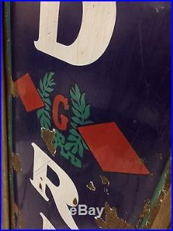 Vtg. 1930's Goodrich Tires Porcelain 78 Sign Advertisement Frame RARE AMAZING