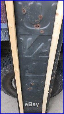 Vtg. 1940s Dunlop Tires Gas & Oil 60 Vertical Advertising Sign