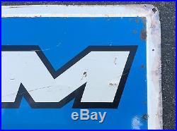 Vtg 1976 Ram Tires Tire Gas Station Oil Tin Metal Sign 48x24 Dodge Truck 70s
