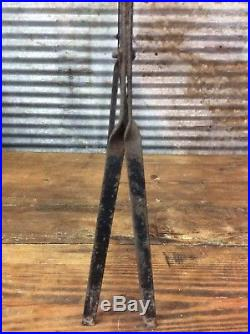 Vtg 40s 50s FIRESTONE BATTERY SERVICE Dbl Sided Metal Display Rack Sign Topper