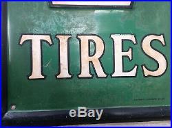 Vtg Antique 1937 Gas Cities Service Oil Tin Metal Not Porcelain sign Acme Tires
