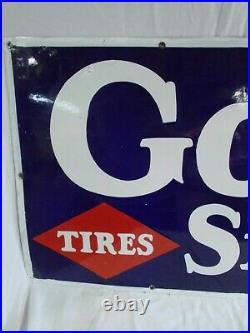 Vtg GOODRICH Tires Porcelain Sign, 58 X 18, Circa 30s