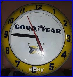 Vtg Ge Goodyear Tires Dealer Advertising-oil-gas Station-garage Wall Clock Sign